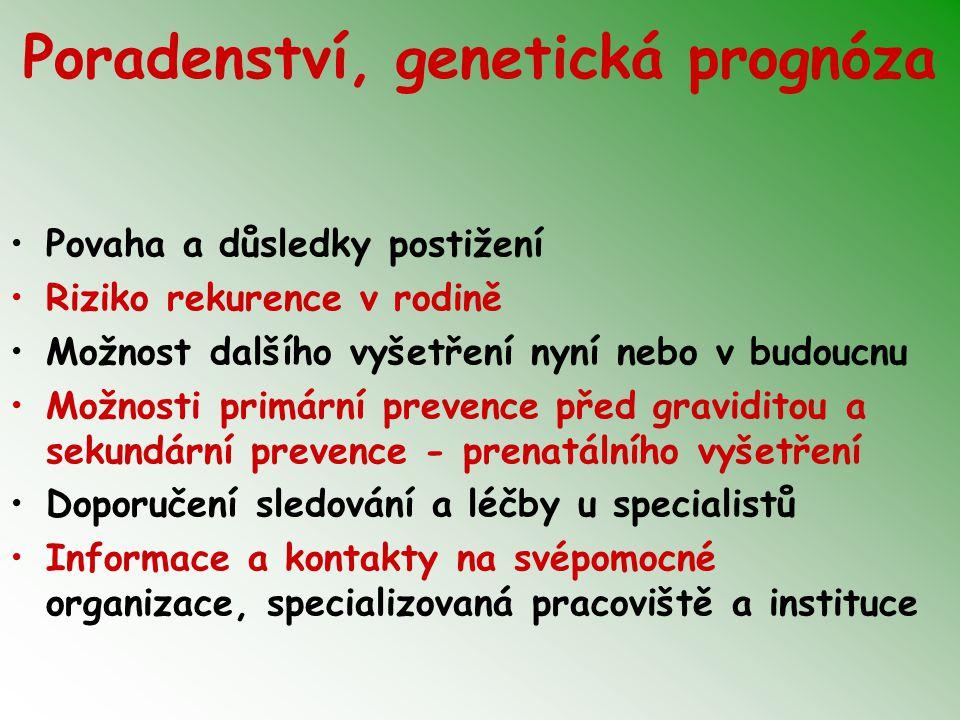 Poradenství, genetická prognóza