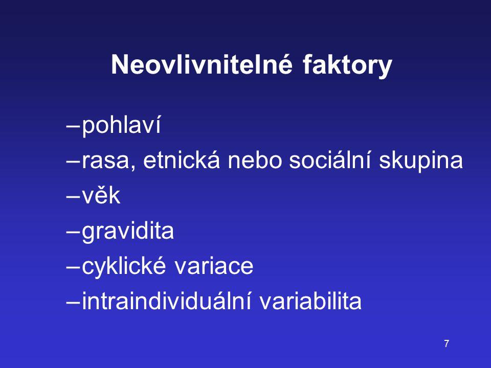 Neovlivnitelné faktory