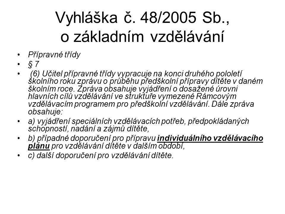 Vyhláška č. 48/2005 Sb., o základním vzdělávání