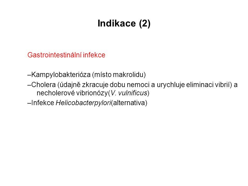 Indikace (2) Gastrointestinální infekce