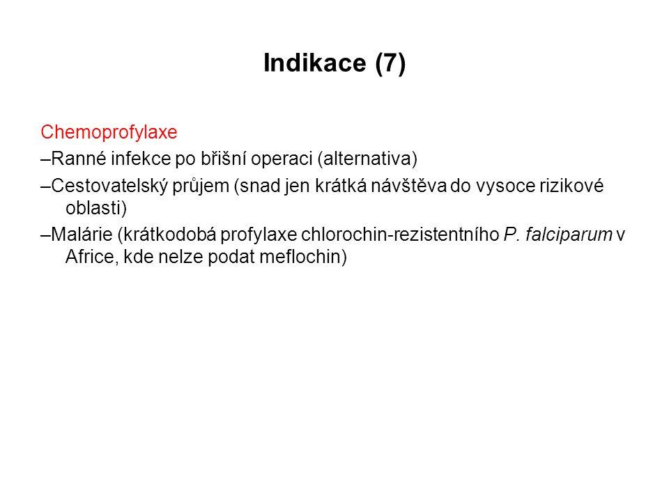Indikace (7) Chemoprofylaxe