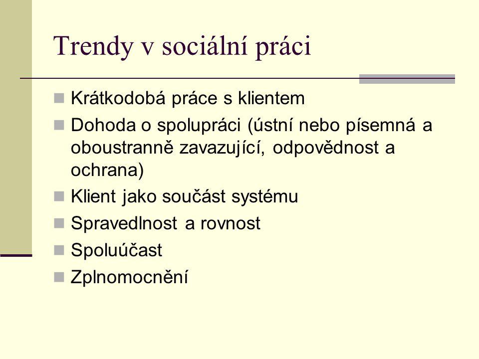 Trendy v sociální práci