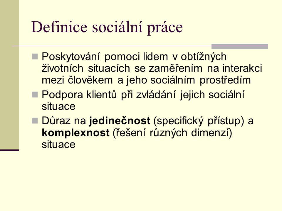 Definice sociální práce