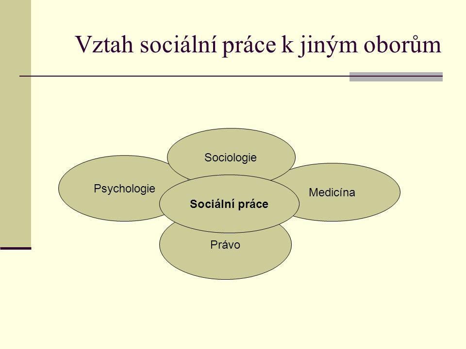 Vztah sociální práce k jiným oborům