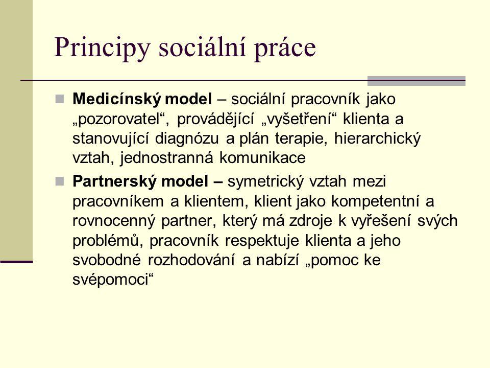 Principy sociální práce