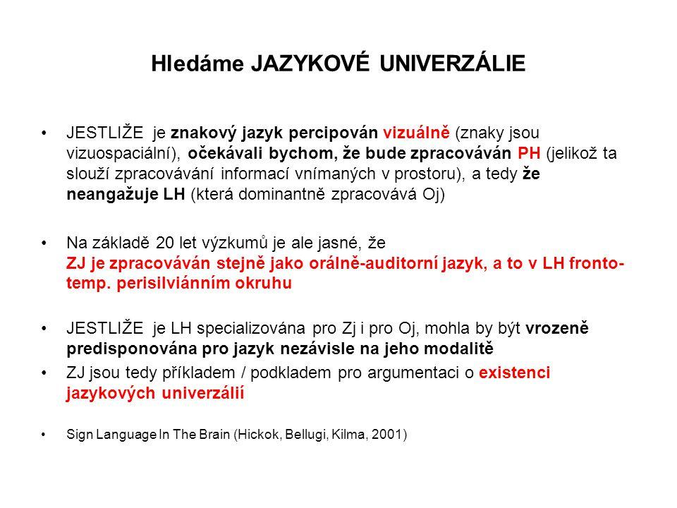 Hledáme JAZYKOVÉ UNIVERZÁLIE