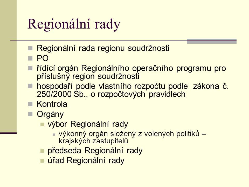 Regionální rady Regionální rada regionu soudržnosti PO
