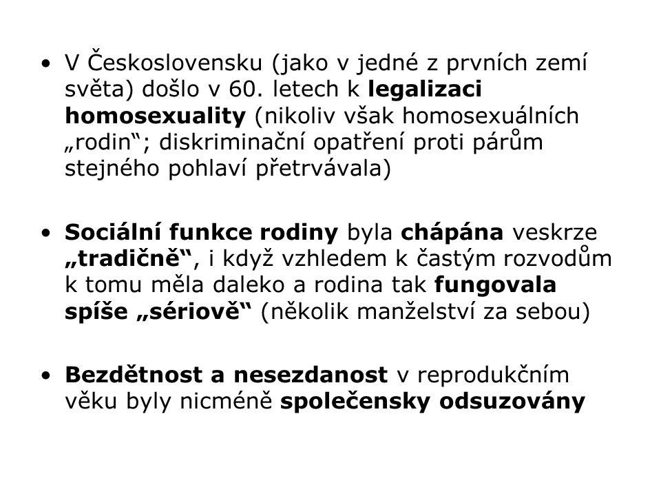 V Československu (jako v jedné z prvních zemí světa) došlo v 60