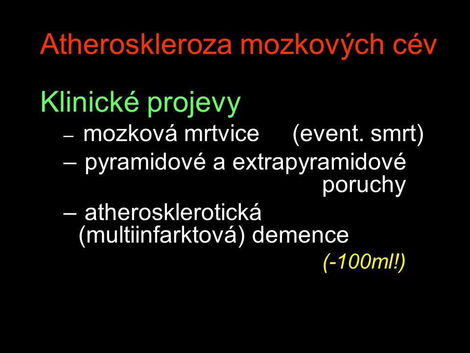 Atheroskleroza mozkových cév