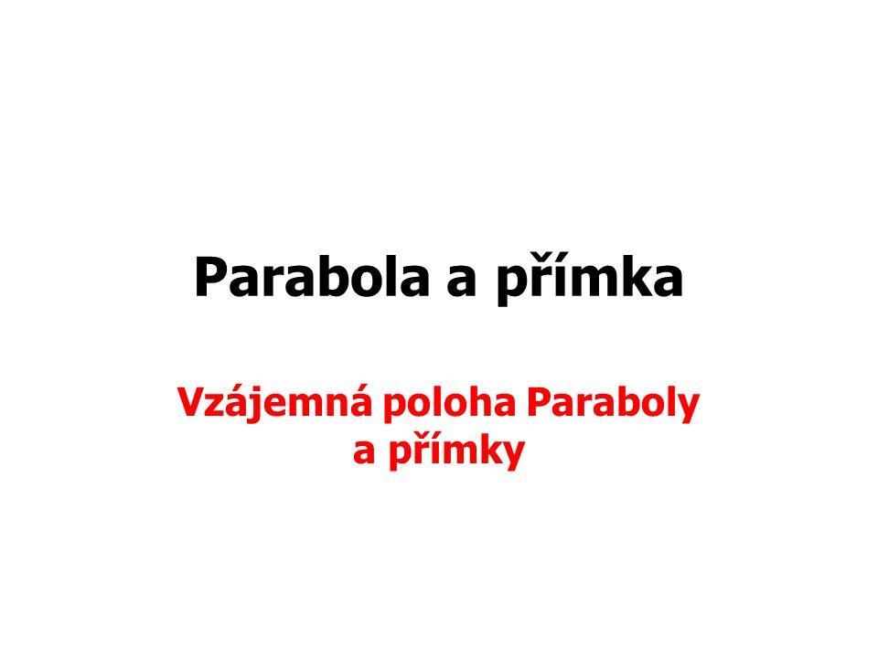 Vzájemná poloha Paraboly a přímky