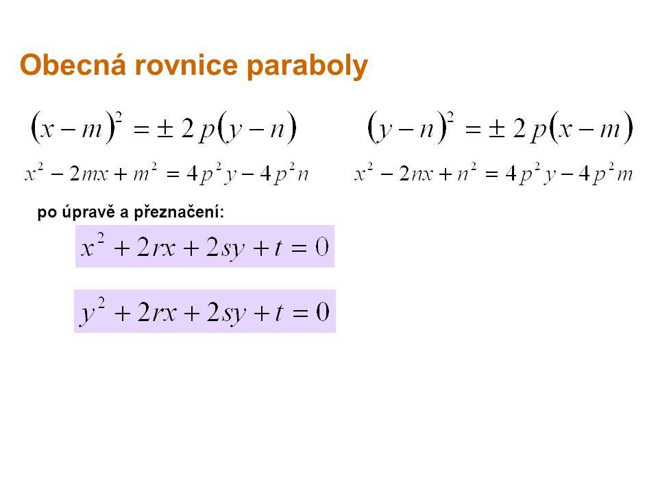 Obecná rovnice paraboly