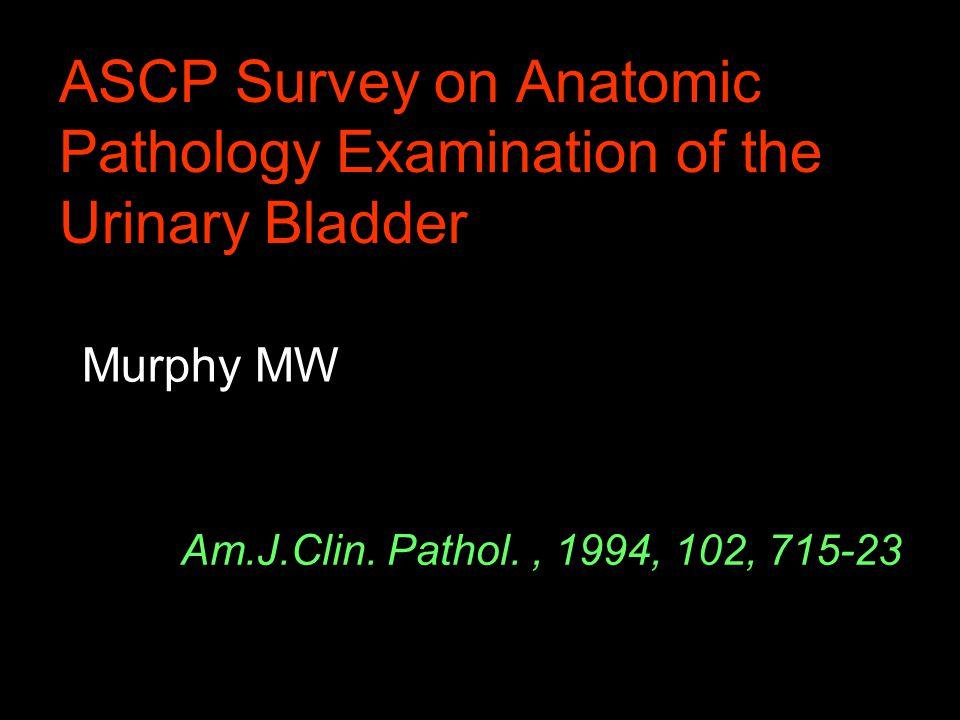 ASCP Survey on Anatomic Pathology Examination of the Urinary Bladder