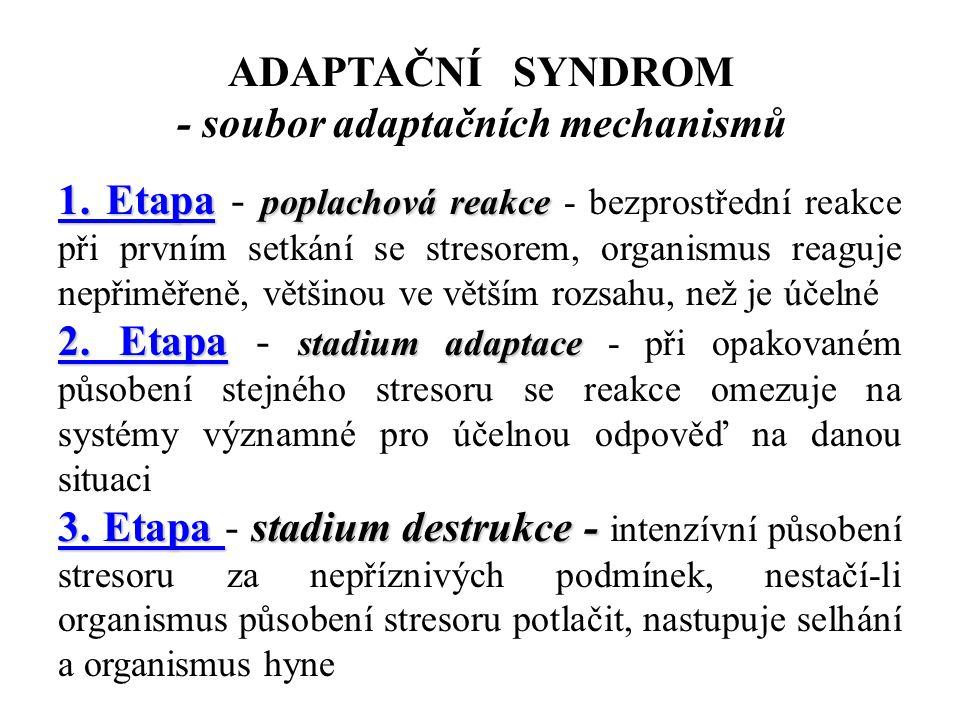 - soubor adaptačních mechanismů