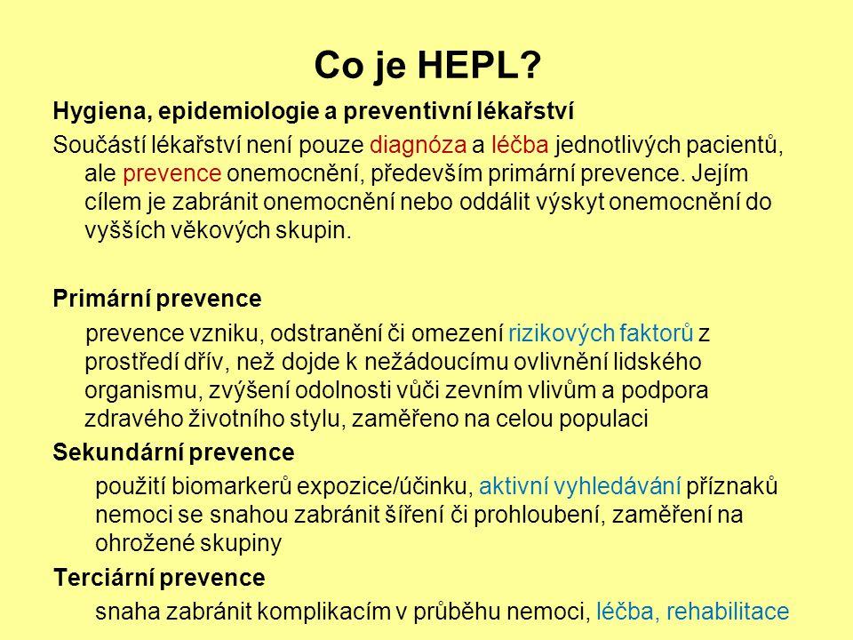 Co je HEPL Hygiena, epidemiologie a preventivní lékařství