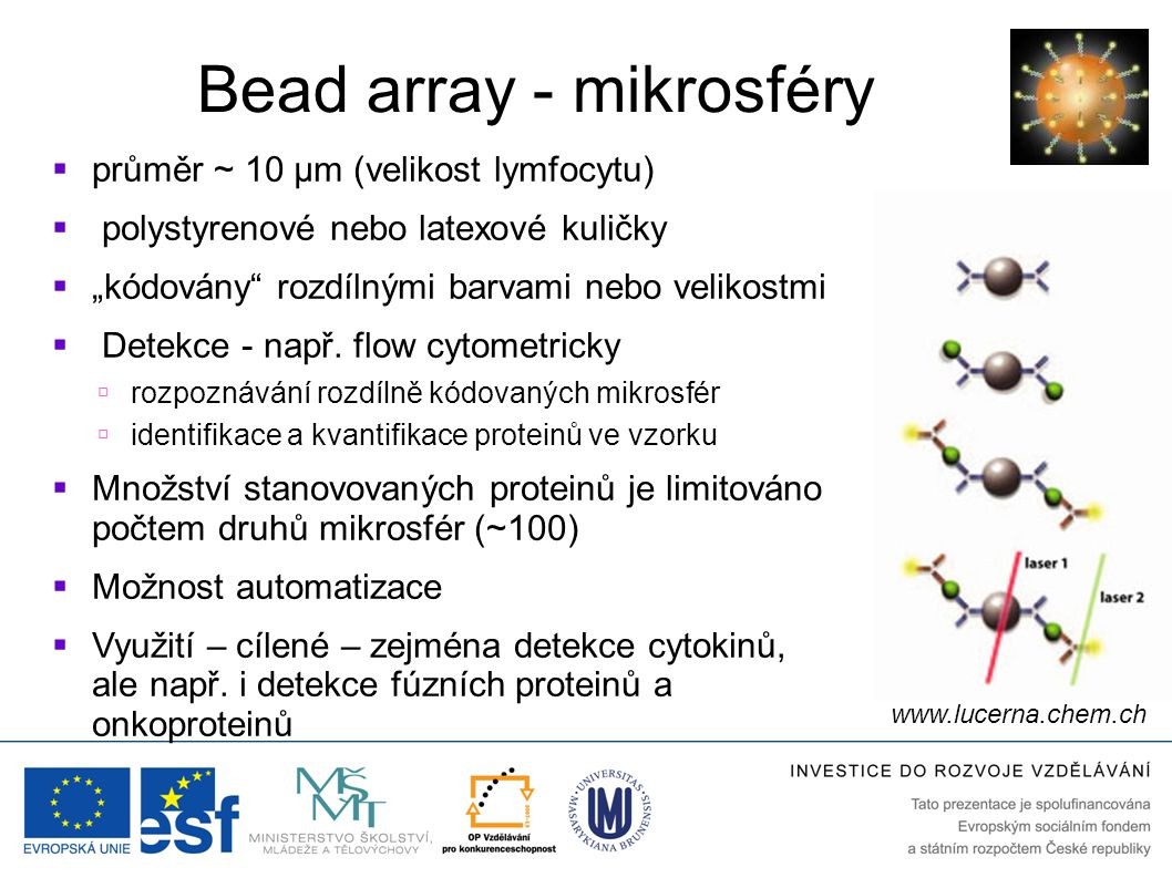 Bead array - mikrosféry