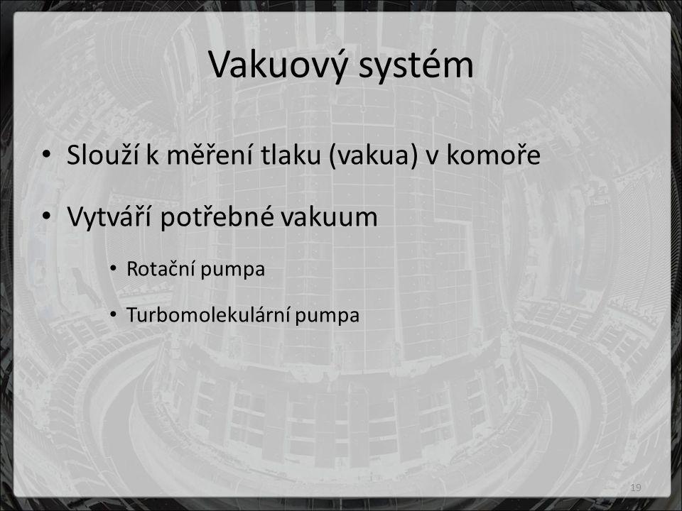 Vakuový systém Slouží k měření tlaku (vakua) v komoře