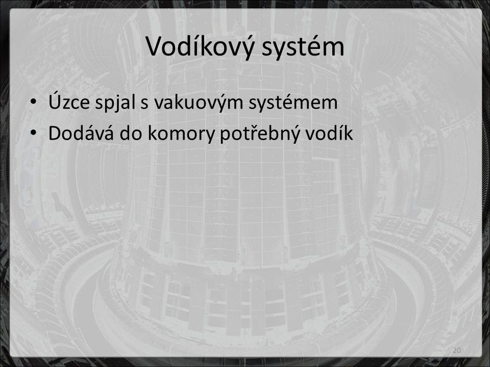 Vodíkový systém Úzce spjal s vakuovým systémem