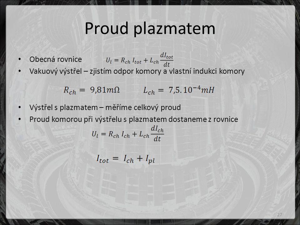 Proud plazmatem Obecná rovnice