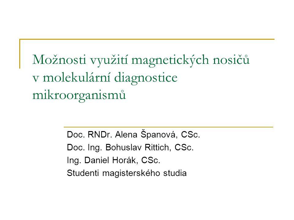 Možnosti využití magnetických nosičů v molekulární diagnostice mikroorganismů