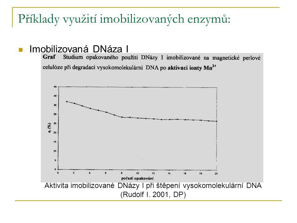 Příklady využití imobilizovaných enzymů: