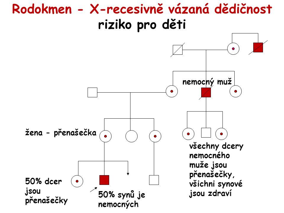 Rodokmen - X-recesivně vázaná dědičnost