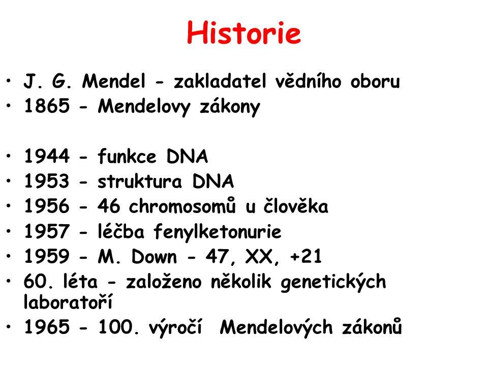 Historie J. G. Mendel - zakladatel vědního oboru