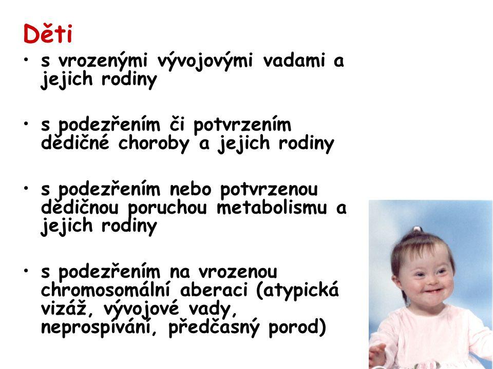 Děti s vrozenými vývojovými vadami a jejich rodiny