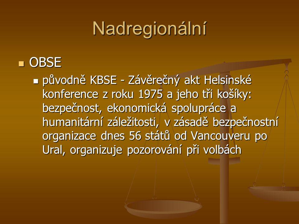Nadregionální OBSE.