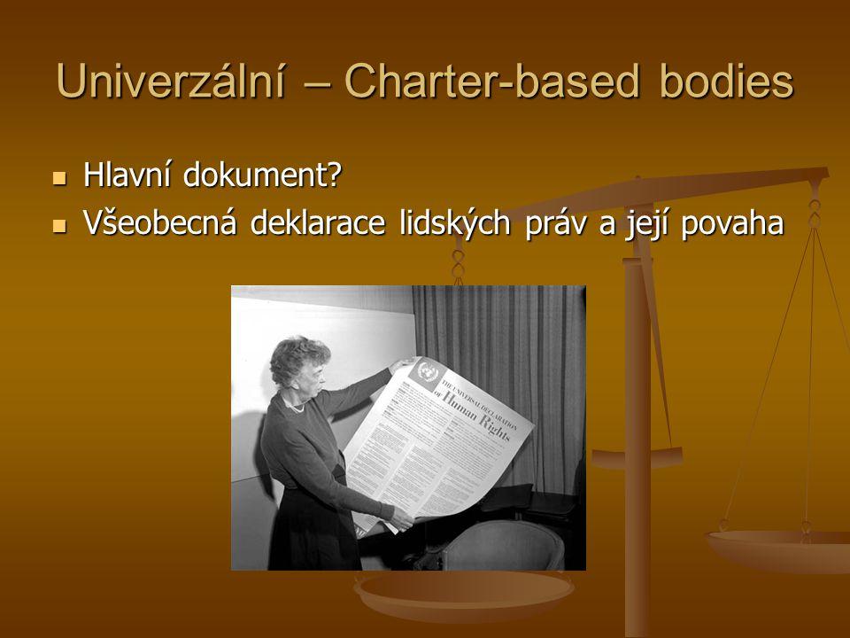 Univerzální – Charter-based bodies