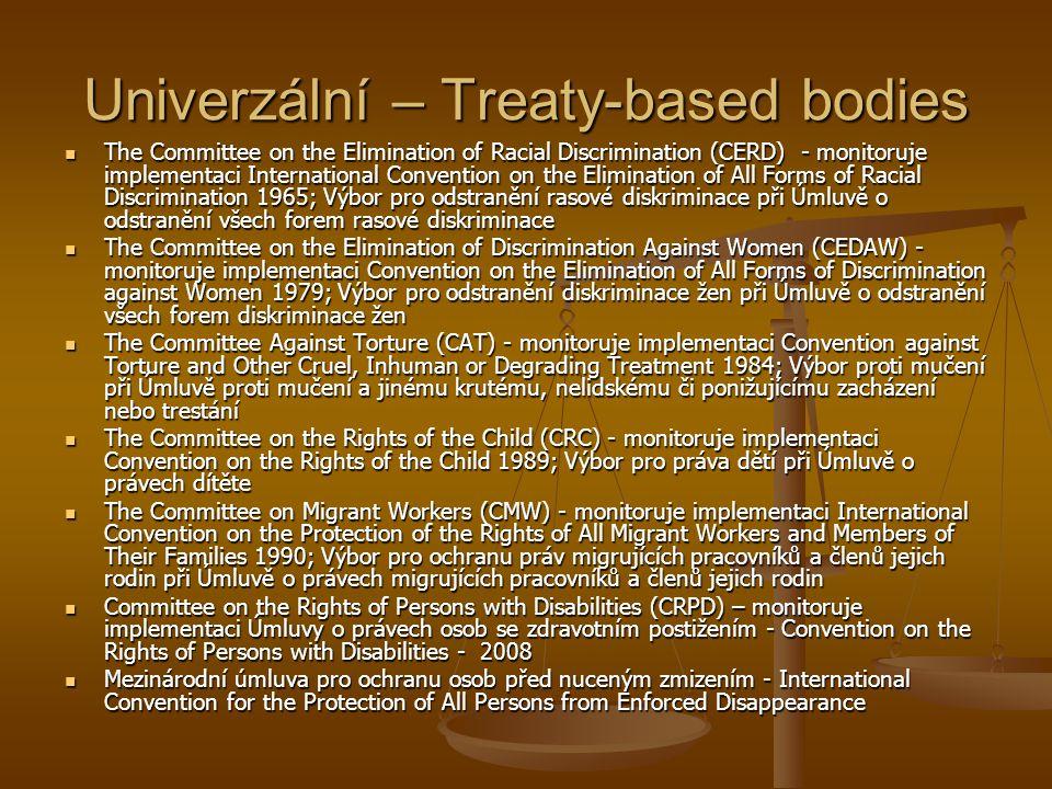 Univerzální – Treaty-based bodies