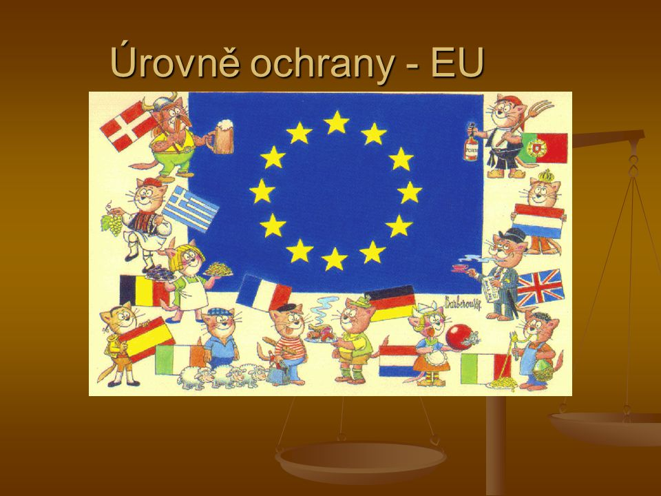 Úrovně ochrany - EU