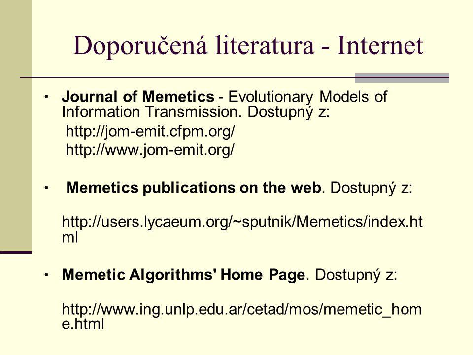 Doporučená literatura - Internet