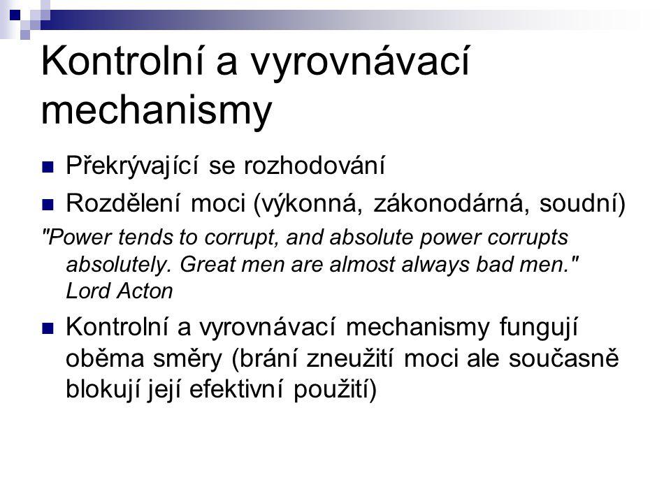 Kontrolní a vyrovnávací mechanismy
