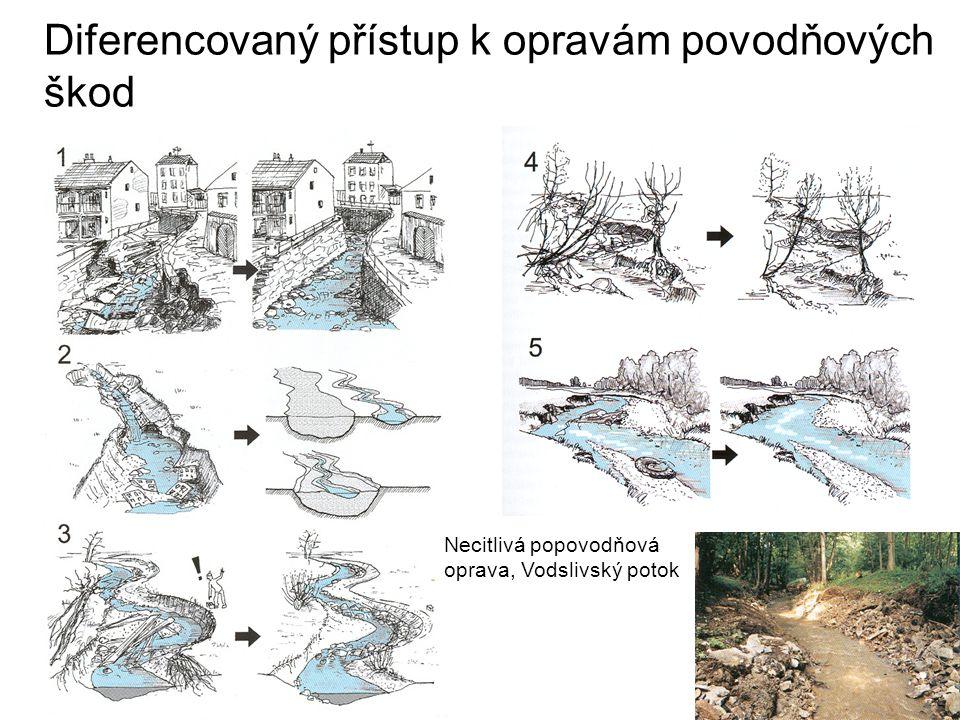 Diferencovaný přístup k opravám povodňových škod