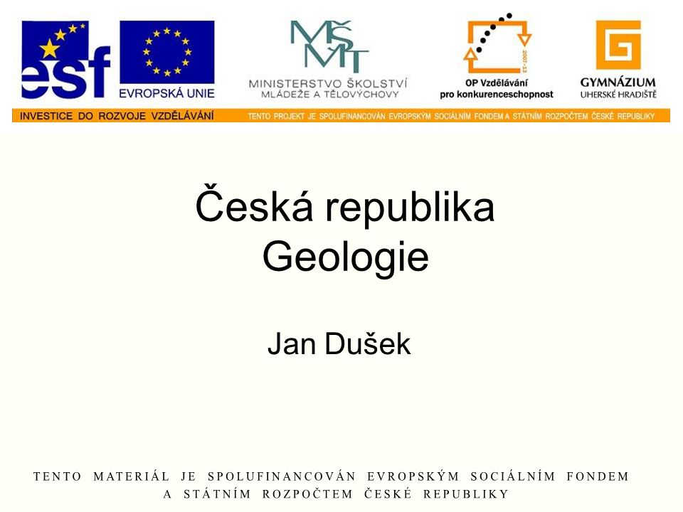 Česká republika Geologie