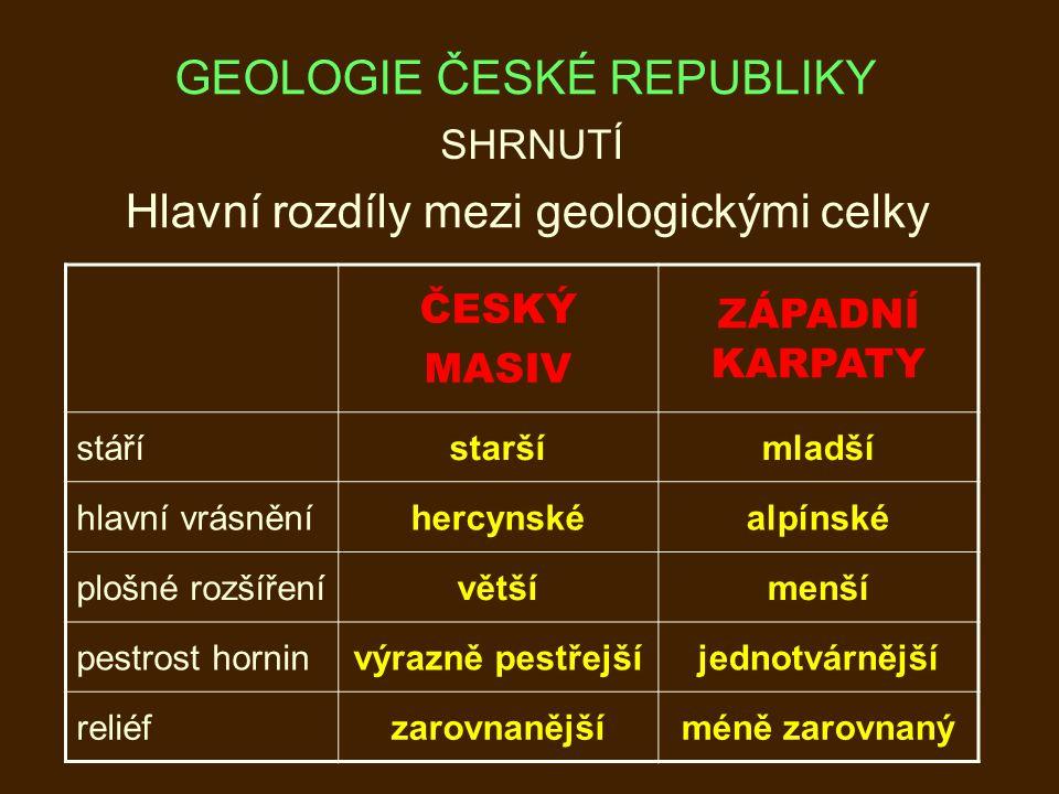 GEOLOGIE ČESKÉ REPUBLIKY