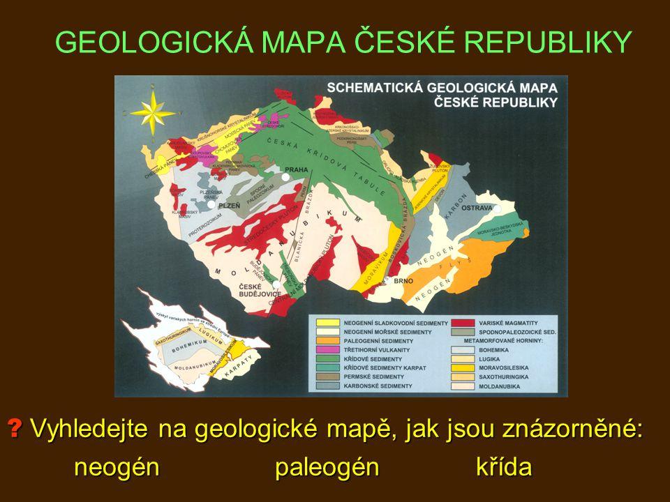 GEOLOGICKÁ MAPA ČESKÉ REPUBLIKY