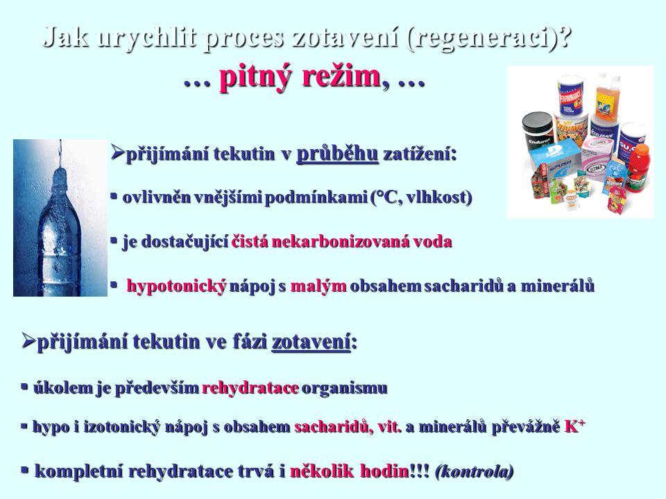 Jak urychlit proces zotavení (regeneraci) … pitný režim, …