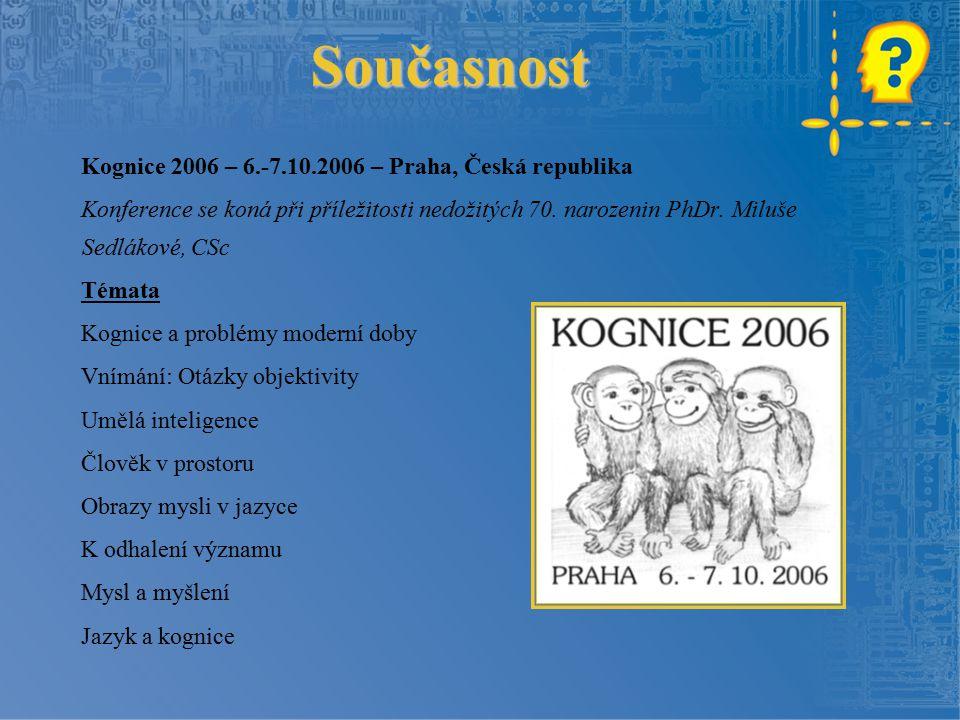 Současnost Kognice 2006 – 6.-7.10.2006 – Praha, Česká republika
