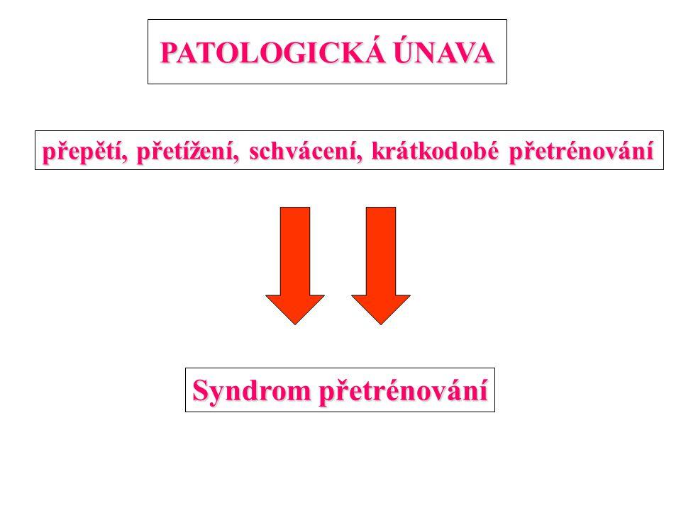 PATOLOGICKÁ ÚNAVA Syndrom přetrénování
