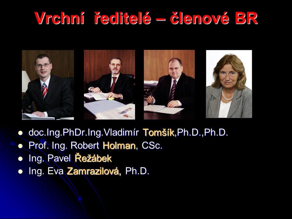 Vrchní ředitelé – členové BR