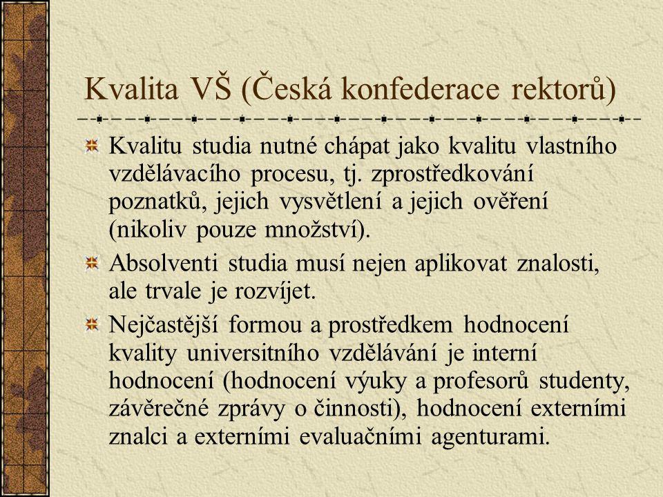 Kvalita VŠ (Česká konfederace rektorů)