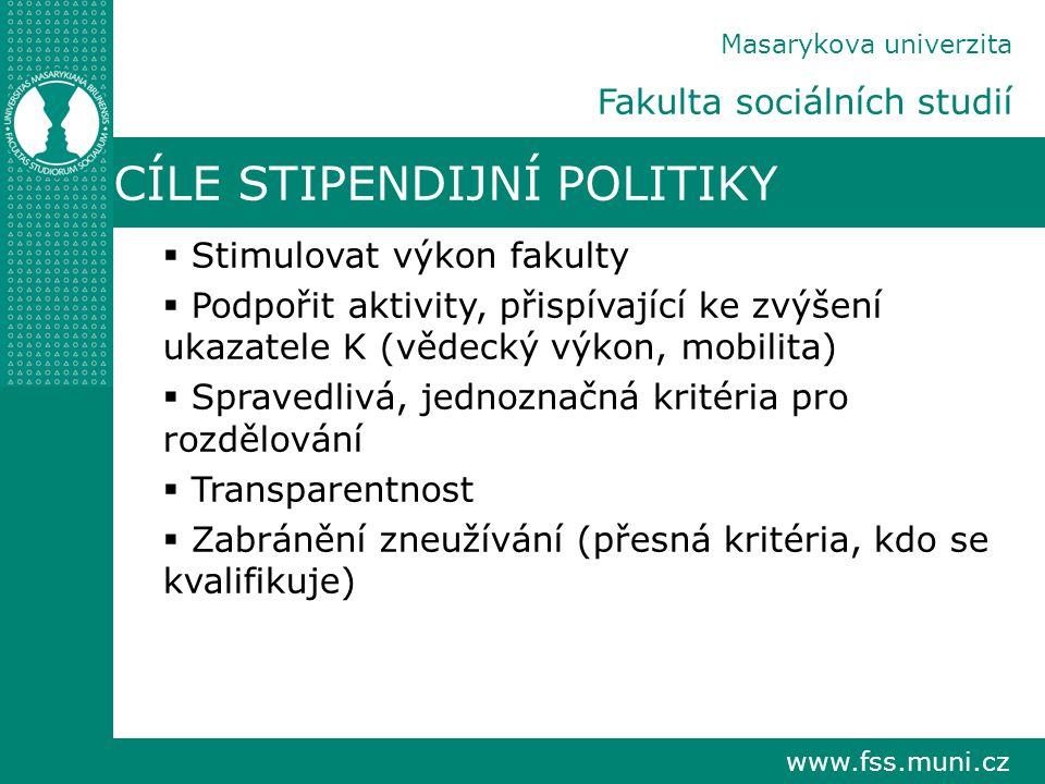 CÍLE STIPENDIJNÍ POLITIKY