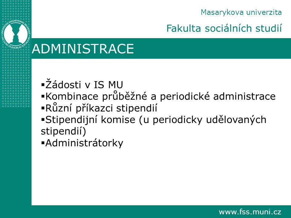 ADMINISTRACE Fakulta sociálních studií Žádosti v IS MU