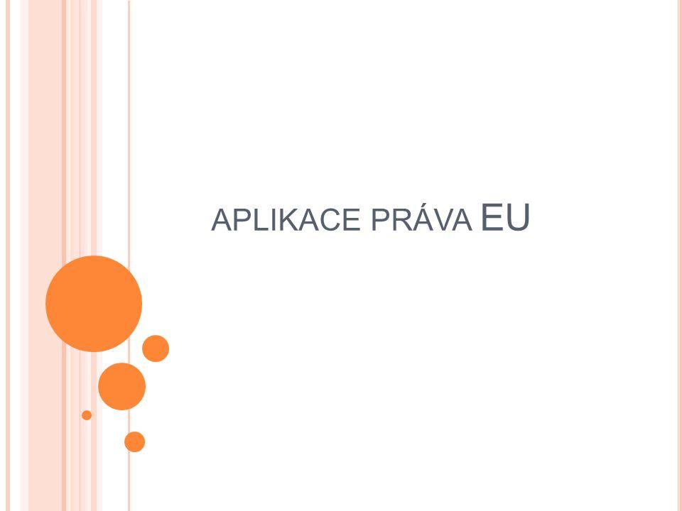 aplikace práva EU