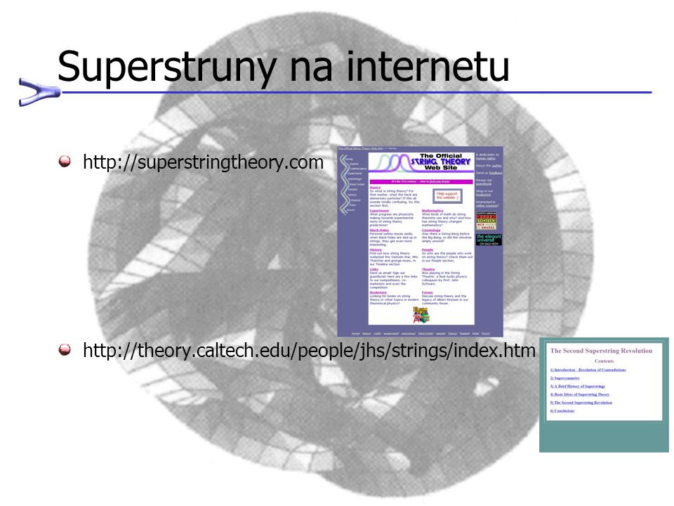 Superstruny na internetu