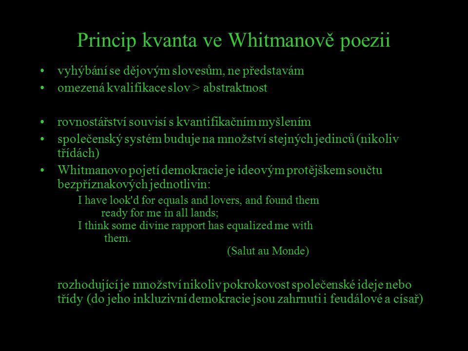 Princip kvanta ve Whitmanově poezii