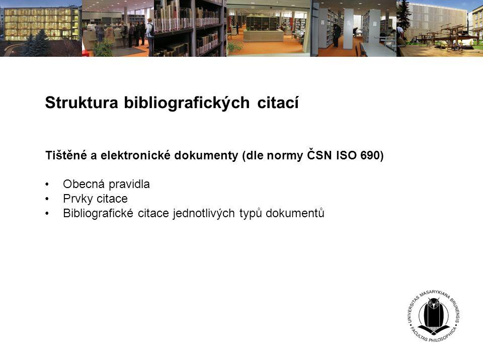 Struktura bibliografických citací
