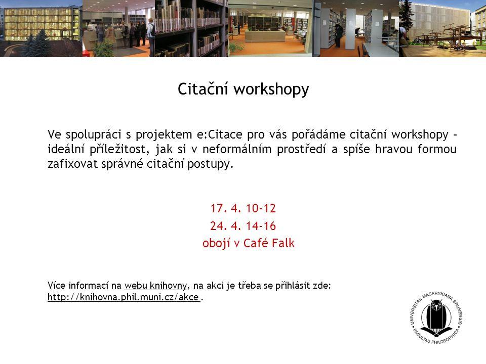 Citační workshopy