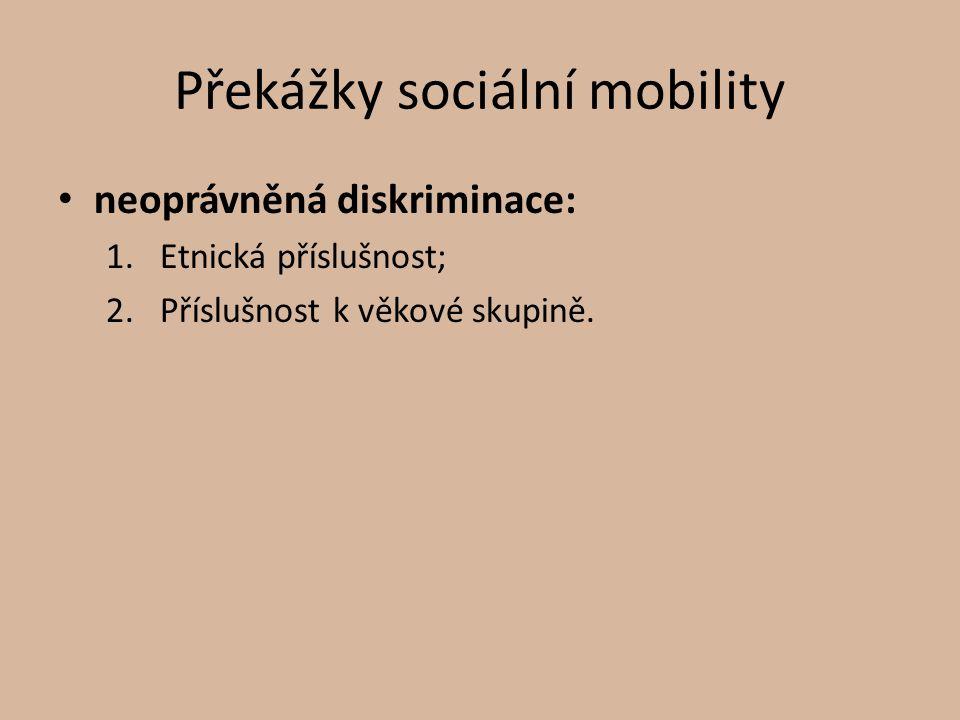 Překážky sociální mobility